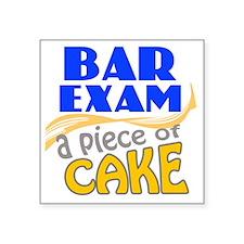 """barexam-pieceofcake Square Sticker 3"""" x 3"""""""