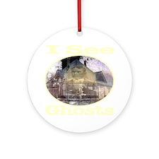iseeghosts_transparent Round Ornament