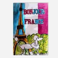 bonjour card Postcards (Package of 8)