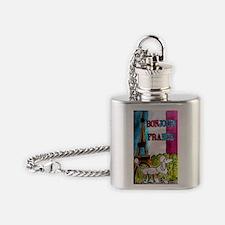bonjour card Flask Necklace