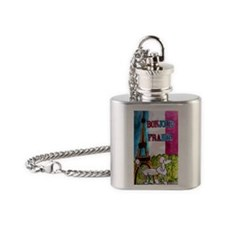 poodle large poster Flask Necklace