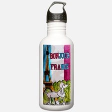 poodle large poster Water Bottle