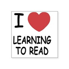 "LEARNINGTOREAD Square Sticker 3"" x 3"""