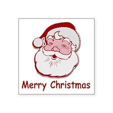 "Santa Merry Christmas Square Sticker 3"" x 3"""