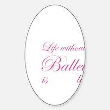ballet3 Sticker (Oval)