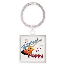 ROCKIN POPPY Square Keychain