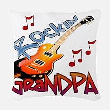 ROCKIN GRANDPA Woven Throw Pillow