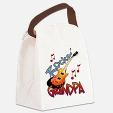 ROCKIN GRANDPA Canvas Lunch Bag
