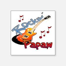 """ROCKIN PAPAW Square Sticker 3"""" x 3"""""""