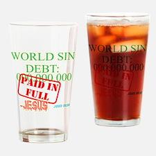 SINDEBT Drinking Glass
