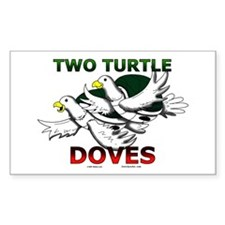 Two Turtle Doves Rectangle Decal