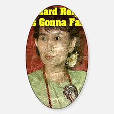 Aung_San_11x17 Sticker (Oval)