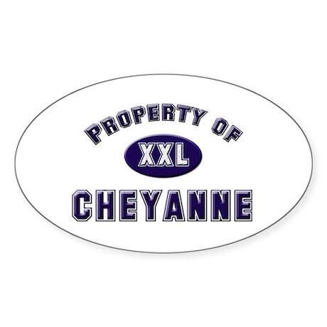 Property of cheyanne Oval Sticker