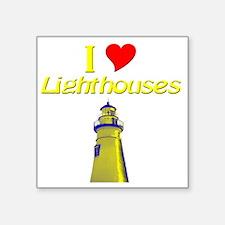 "beach island cape lighthous Square Sticker 3"" x 3"""