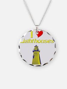 beach island cape lighthouse Necklace