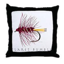 Claret Bumble_1 Throw Pillow