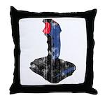 Worn Retro Joystick Throw Pillow