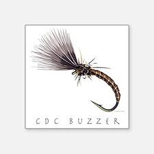 """CDC Buzzer_1 Square Sticker 3"""" x 3"""""""