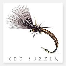 "CDC Buzzer_1 Square Car Magnet 3"" x 3"""