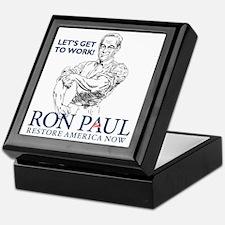 Ron Paul 2012 Lets Get To Work2 Keepsake Box