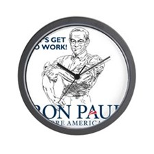Ron Paul 2012 Lets Get To Work2 Wall Clock