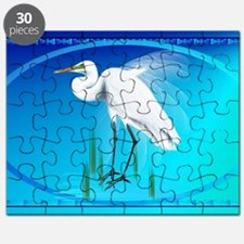Wall Peels Great Egret Oval Puzzle