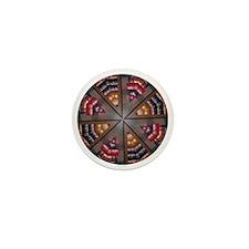 Bookshelf Mandala Mini Button