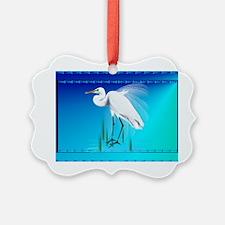 Wall Peels Great Egret Ornament