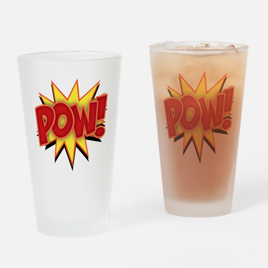 pow-bang-T Drinking Glass