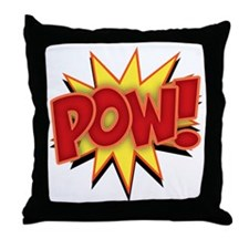 pow-bang-T Throw Pillow