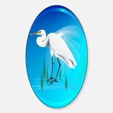 ornament_ovalGreat Egret Decal