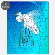 ornament_ovalGreat Egret Puzzle