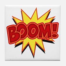 boom-bang-T Tile Coaster
