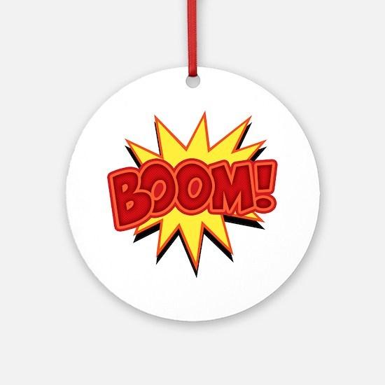 boom-bang-T Round Ornament