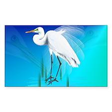 American Egret In Grass-Yardsi Decal