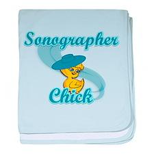 Sonographer Chick #3 baby blanket