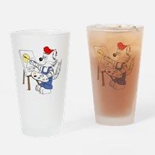 Artist Cat DarkLines in Color TRANS Drinking Glass