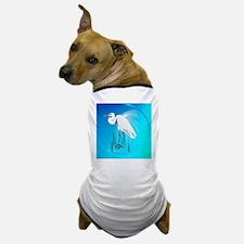 American Egret In Grass-circle Dog T-Shirt