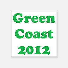"2000x2000greencoast2012clea Square Sticker 3"" x 3"""