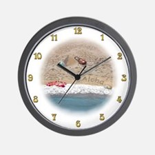 Footprints of Time Wall Clock