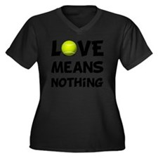 Love Means N Women's Plus Size Dark V-Neck T-Shirt