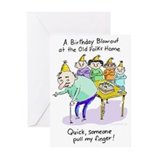 At the Old folks Home Greeting Card