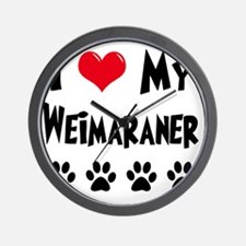 I-Love-My-Weimaraner Wall Clock