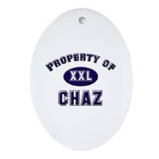 Property of chaz Oval Ornament
