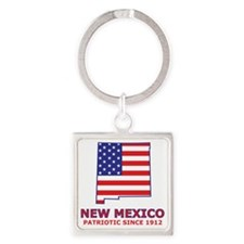 newmexico_state_flag_map2 Square Keychain