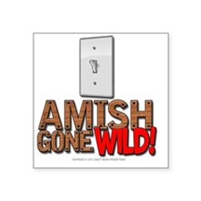 "amishgonewild_nails Square Sticker 3"" x 3"""