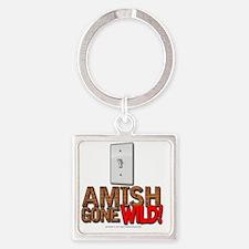 amishgonewild_nails Square Keychain