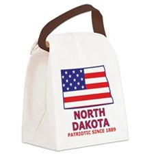 northdakota_state_flag_map2 Canvas Lunch Bag