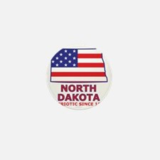 northdakota_state_flag_map2 Mini Button