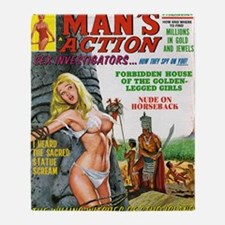 MANS ACTION, June 1969 - png Throw Blanket
